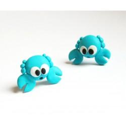 Krabi - ocelové pecky tyrkys