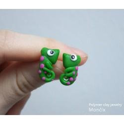 Chameleon ocelové náušnice