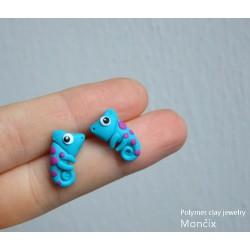 Chameleon blue ocelové náušnice