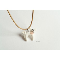 Kocour - náhrdelník fimo