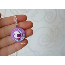 Ptačí náhrdelník lila