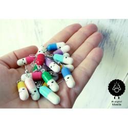 Veselé pilulky jako náušnice