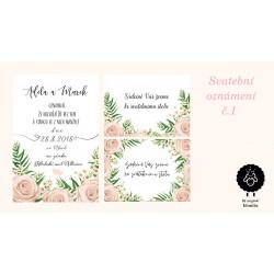Svatební oznámení č.1 - elektronická verze
