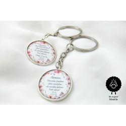 Svatební klíčenka oboustranná Váš podpis