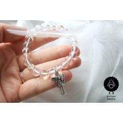 Křišťál - náramek s andělkou