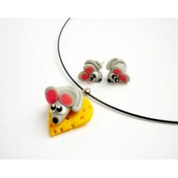 Myška na sýru - náhrdelník