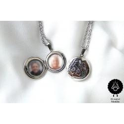 Medailonek - náhrdelník ocel (na přání)