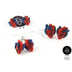 Lidská srdce - ocel, visací