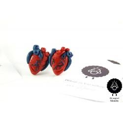 Lidská srdce - manžetové knoflíčky