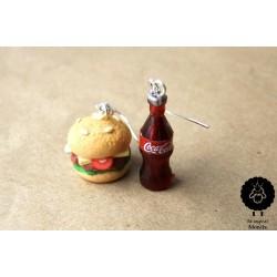 """Náušnice """"Cola a hamburger"""" 7"""