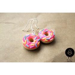 """Náušnice """"Donuty růžové"""" 8"""