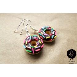 """Náušnice """"Donuty čokoládové"""" 8"""