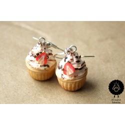 "Náušnice ""Muffin, cupcake"" 15B"
