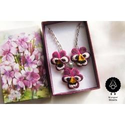 Květinkové náušnice Macešky