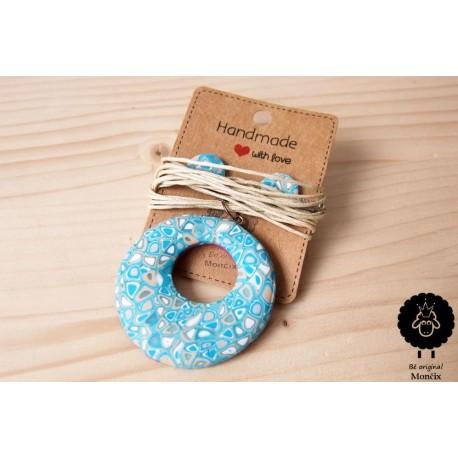 Mozaikový náhrdelník donut