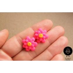 Náušnice květiny neonové