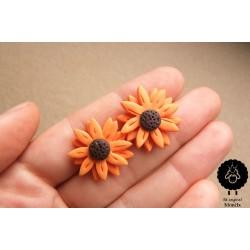 Náušnice květiny Slunečnice pecky