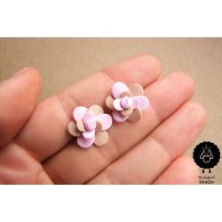 Náušnice květiny ocelové pecky Levandule