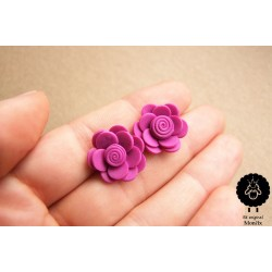 Náušnice květiny ocelové pecky