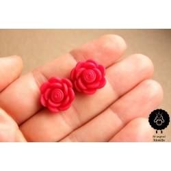 Náušnice květiny fialové pecky