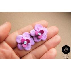 Náušnice květiny pecky