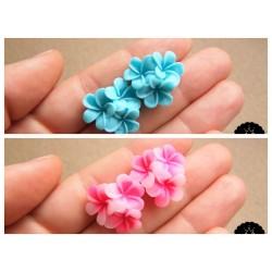 Náušnice květiny pecky 2 barvy