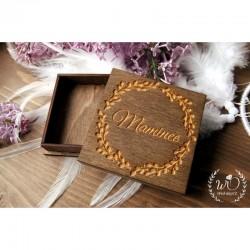 Krabička dřevěná Mamince Zrcátko / náramek