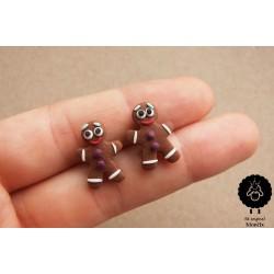 Perníčci - ocelové perníčkové náušnice