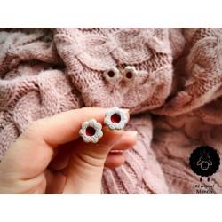Mini linecké ocelové náušni
