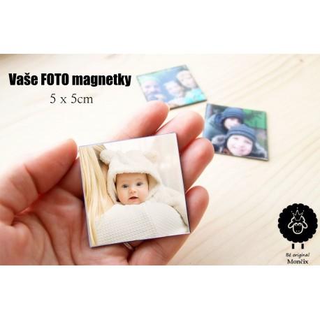Magnet s VAŠÍ fotografií 1ks 5x5cm