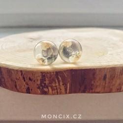 Nevěstin závoj ocelové náušnice 16mm