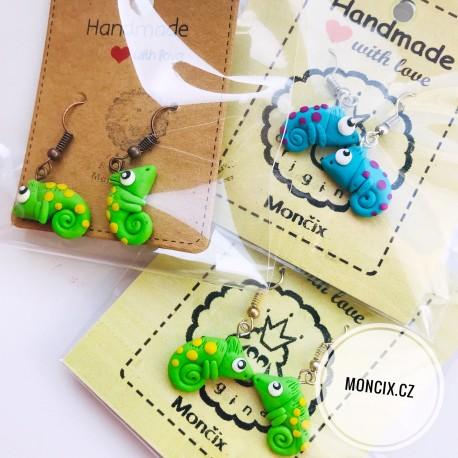 Chameleoni náušnice 2 barvy