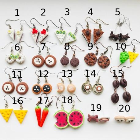 Výprodej FIMO náušnic 6 (20 druhů)