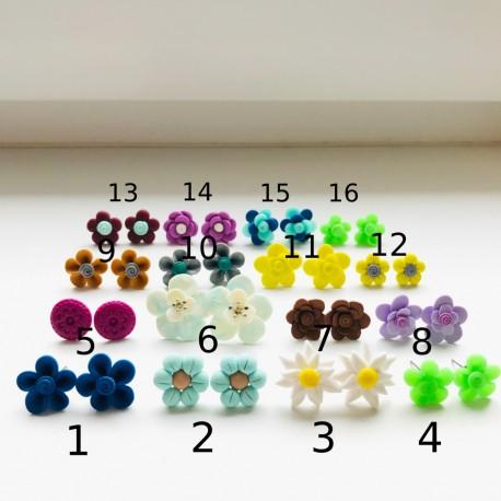 Výprodej FIMO náušnic 8 (16 druhů)