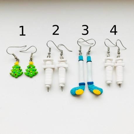 Výprodej FIMO náušnic 9 (4 druhy)