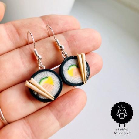 Náušnice Sushi