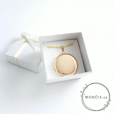 Medailon s fotografií Rose gold ocel