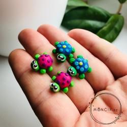 Želvy modré - náušnice